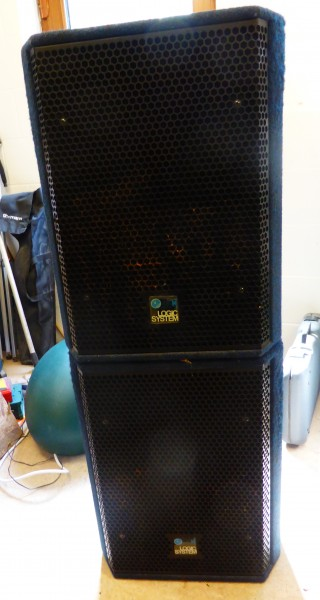 Logic CM15 Speakers and Power Amp