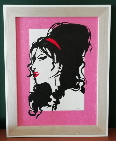 Amy Winehouse Acrylic Painting